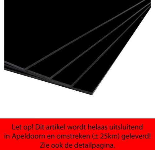 Foamboard Office 50x70cm dikte 5mm 2-zijdig zwart.