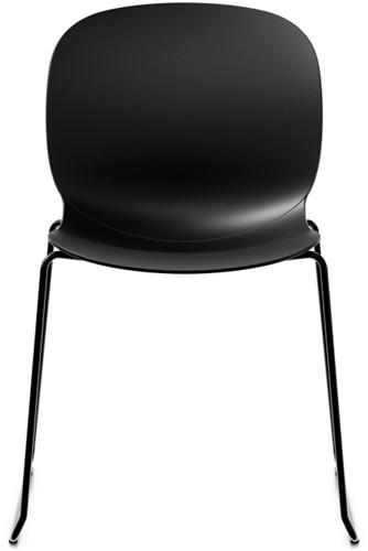 Bijzetstoel RBM Noor 6060 kuip Graphite poot slede zwart.
