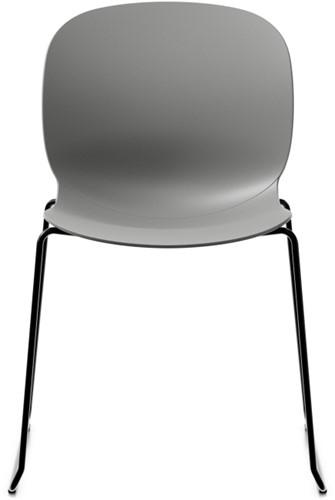 Bijzetstoel RBM Noor 6060 kuip Clay poot slede zwart.