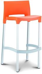 Barkruk Gio 5499 oranje hoogte 75 cm.