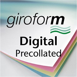 Papier Giroform Digital 2 voud voorvergaard 80 grams wit + 80 grams geel 250 sets.
