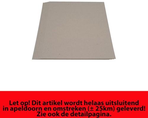Grijsbord karton 70x100cm 1575 grams dikte 2.5mm.
