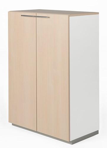 Houten kast met 2 deuren Nice Price 119hx80bx44d cm kleur eiken whitewash