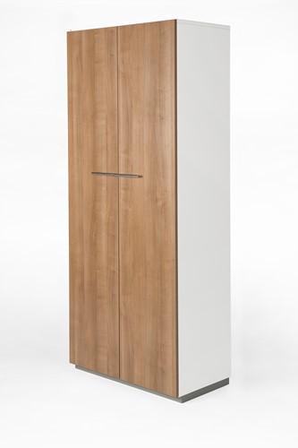 Houten kast met 2 deuren Nice Price 196hx80bx44d cm kleur eiken.