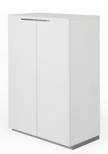 Houten kast met 2 deuren Nice Price 119hx80bx44d cm kleur wit.