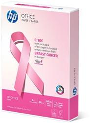 Papier HP Office A4 80gram wit FSC 500 vel. Papier met impact! € 0,10 voor elk verkocht pak gaat naar Pink Ribbon