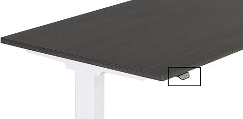 Zit / Sta tafel Huislijn elektrisch verstelbaar 64-130cm blad 160x80cm eiken robson frame wit.-2