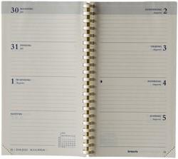 Agenda-inhoud 2018 Brepols Interplan 7 dagen per 2 pagina's 8,9x16cm met spiraal creme papier (900056).