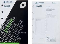 Agenda calendarium 2018 Succes Junior 8x12,5cm 1 dag per pagina 4-talig wit in cellofaan XJQ1.18.