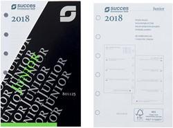 Agenda calendarium 2018 Succes Junior 8x12,5cm 7 dagen per 2 pagina's 4-talig wit in cellofaan XJQ7.18