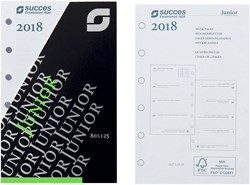 Agenda calendarium 2019 Succes Junior 8x12,5cm 7 dagen per 2 pagina's 4-talig wit in cellofaan XJQ7.19