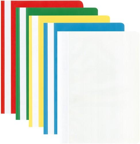 Snelhechter Kangaro kunststof A4 felle assorti kleuren 5 stuks.