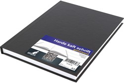 Schrift Kangaro A5 80 grams 80 bladzijden gelinieerd hard cover zwart.