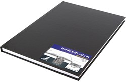Schrift Kangaro A4 80 grams 80 bladzijden gelinieerd hard cover zwart.