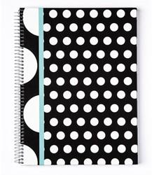 Spiraalblok Kangaro B'Log Dots A4 hard cover - 80 vel 90 grams gelijnd papier 2 motieven.