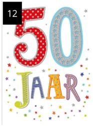 Wenskaart + envelop Artige collectie Maximaal formaat A4 opdruk: 50 jaar AT2012.