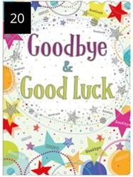Wenskaart + envelop Artige collectie Maximaal formaat A4 opdruk: Goodbye & Good Luck AT2020.