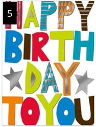 Wenskaart + envelop Artige collectie Maximaal formaat A4 opdruk: Happy Birthday to You AT2005.