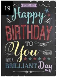 Wenskaart + envelop Artige collectie Maximaal formaat A4 opdruk: Happy Birthday to You AT2019.