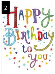 Wenskaart + envelop Artige collectie Maximaal formaat A4 opdruk: Happy Birthday to You AT2002.