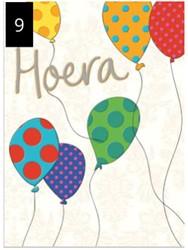 Wenskaart + envelop Artige collectie Maximaal formaat A4 opdruk: Hoera AT2009.