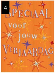 Wenskaart + envelop Artige collectie Maximaal formaat A4 opdruk: Speciaal voor jouw verjaardag AT2004.