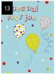 Wenskaart + envelop Artige collectie Maximaal formaat A4 opdruk: Speciaal voor jou AT2013.