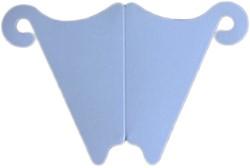 Kaartenstandaard wit van 120 grams papier 8cm hoog pakje van 10 stuks voor plaatsen van kaarten of foto's.