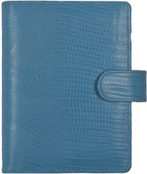 Agenda omslag Kalpa Senior Tejusprint incl. inhoud 2017/2018 7d/2pag - leer in de kleur lichtblauw.