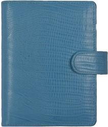 Agenda omslag Kalpa Senior Tejusprint incl. inhoud 2017 7d/2pag - leer in de kleur lichtblauw.