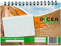 Kilometerregistratie Picea A5 2-voud ringback 40 vel.