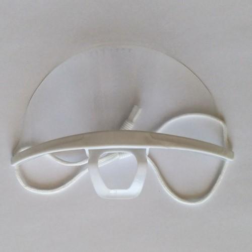 Kinmasker voor persoonlijke bescherming transparant.