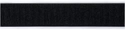 Klittenband 25mm breed x 25m zelfklevend zwart haakjes.