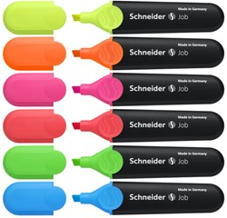 Markeerstift Schneider Job 6-delig assorti kleuren.