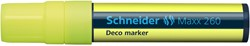 Krijtmarker Schneider deco 260 5-15mm fluor geel.