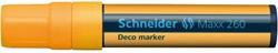 Krijtmarker Schneider deco 260 2-15mm fluor oranje.