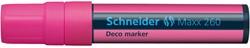 Krijtmarker Schneider deco 260 2-15mm fluor roze.