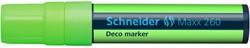 Krijtmarker Schneider deco 260 2-15mm fluor groen.