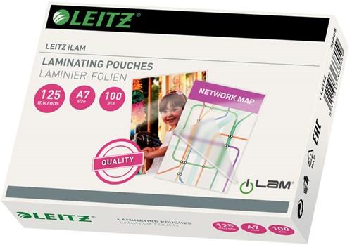 Lamineerhoes Leitz A7 2x125 micron glanzend 100 stuks.