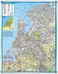 Landkaart Nederland Nobo 104 x 126 cm beschrijfbaar en magneethoudend.