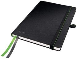 Notitieboek Leitz Complete A5 harde kaft zwart - 80 vel 100 grams blanco ivoorpapier.