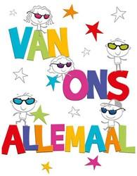 Wenskaart + envelop Artige collectie Maximaal formaat A4 opdruk: Van ons allemaal AT2008.