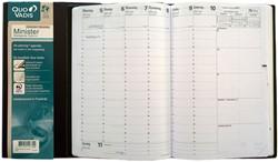 Agenda 2018 Quo Vadis Minister 7 dagen per 2 pagina's 16x24cm omslag zwart wit papier.