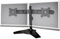 Monitorarm Digitus voor 2 LCD schermen maximaal 24 inch kleur zwart.