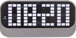 Wekker NeXtime 'Loud' 17,5x8,5cm ABS zwart NE-5211ZW.