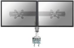 Monitor arm Newstar D940D 2 schermen maximaal 24 inch kleur zilver.