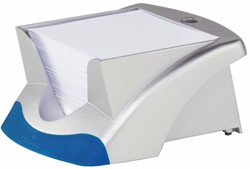 Memokubus Durable blauw/zilver, incl. 90x90mm 500 vel papier.