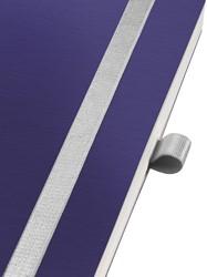 Notitieboek Leitz Style A5 zachte kaft titaniumblauw - 80 vel 100 grams gelijnd ivoorpapier 4487-00-69.