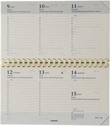 Agenda-inhoud 2018 Brepols Omniplan 7 dagen per 2 pagina's 8,9x16cm met spiraal creme papier (900058).
