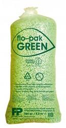 Opvulchips inhoud 500 liter biologisch afbreekbaar, kleur lichtgroen.